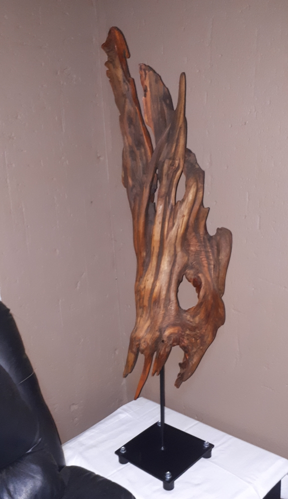 The Mask, driftwood art